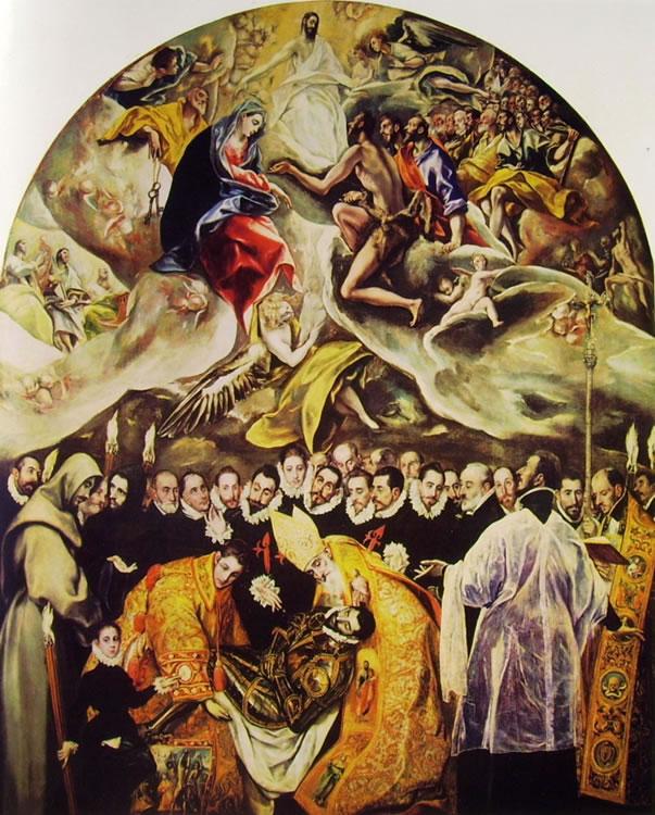 El Greco: L'Entierro (il seppellimento) del Conde de Orgaz