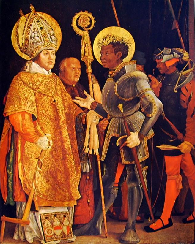 Matthias Grünewald: Incontro dei santi Erasmo e Maurizio