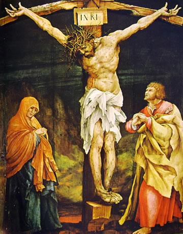 Matthias Grünewald: La Doppia tavola di Tauberbischofsheim - La Crocifissione, cm. 193 x 151