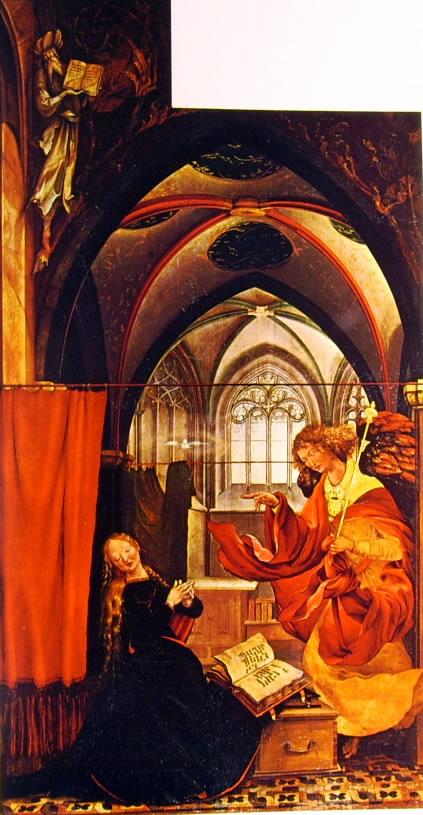 Matthias Grünewald: Altare di Isenheim - L'Annunciazione