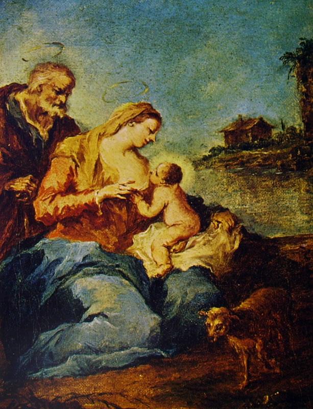 Francesco Guardi: Sacra famiglia con l'agnello