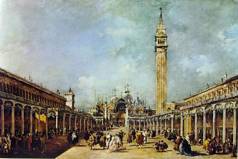 Francesco Guardi: Piazza San Marco parata per la festa della Sensa (Lisbona)
