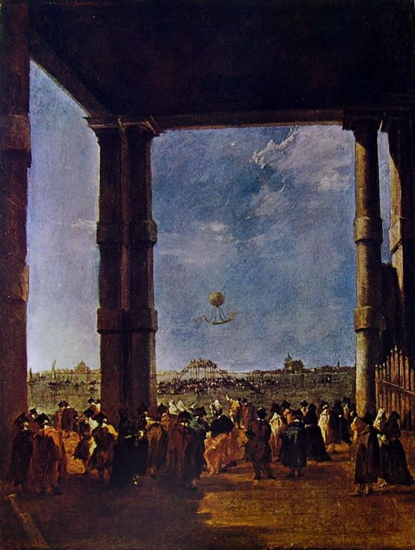 Francesco Guardi: Ascensione della mongolfiera del conte Zambeccari