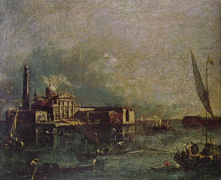 Francesco Guardi: Il bacino di San Marco verso l'isola di San Giorgio Maggiore e la Giudecca