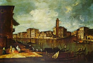 Il Canal Grande a San Geremia, cm. 94 x 133, Museum of Art, Baltimora.