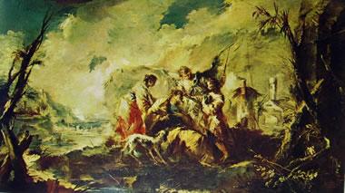 Francesco Guardi: Storie di Tobiolo (Chiesa dell'Angelo Raffaele) - Il Canal Grande a San Geremia