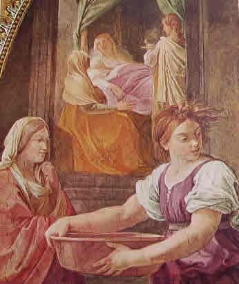 La nascita della Vergine -particolare 1
