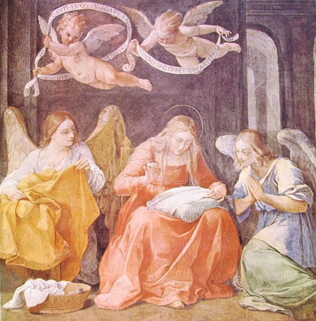 Dipinti nel palazzo del Quirinale: Madonna del cucito