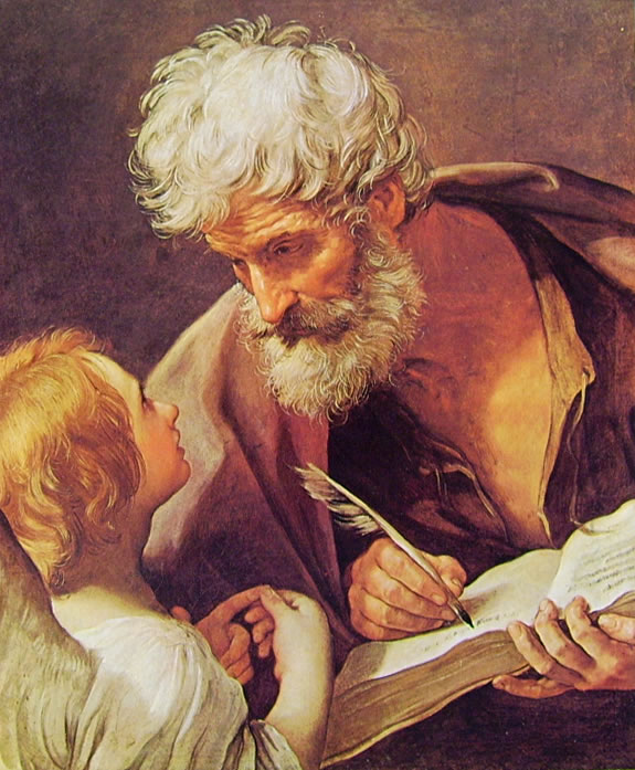 L'evangelista Matteo (San Matteo e l'angelo)