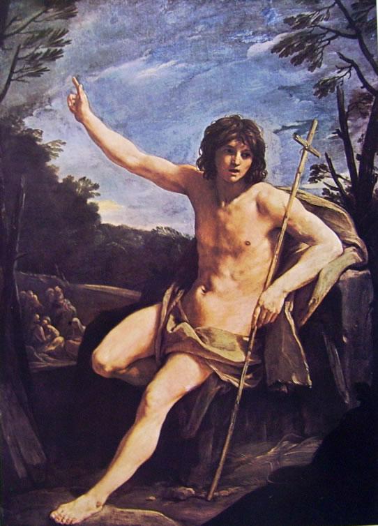 Il Battista nel deserto (Londra) di Guido Reni