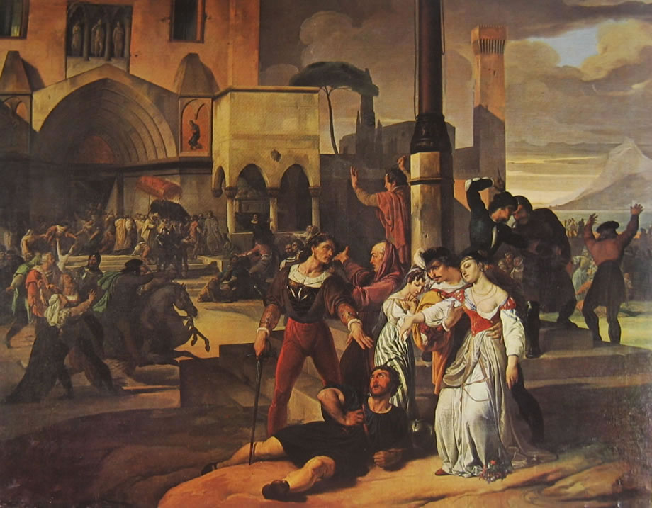 I vespri siciliani di Francesco Hayez