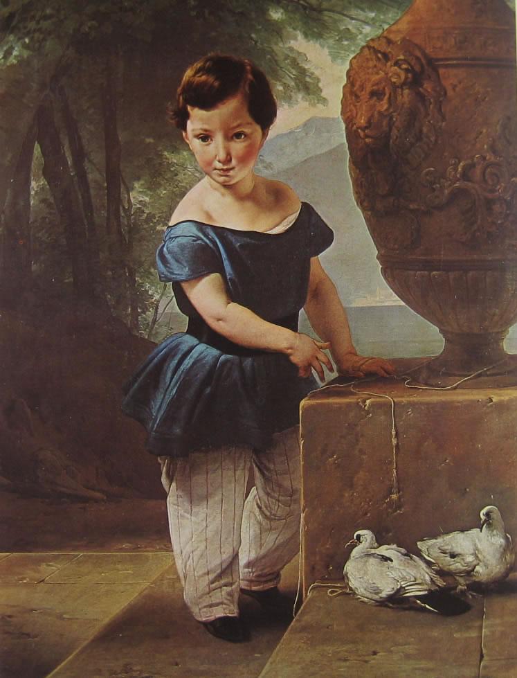 Hayez: Ritratto Don Giulio Vigoni bambino