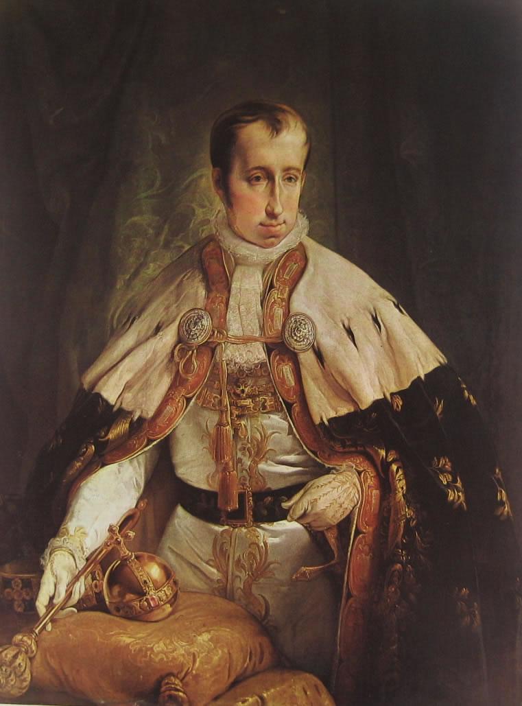 Hayez: Ritratto dell'imperatore Ferdinando I d'Austria