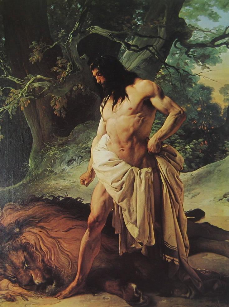 Hayez: Sansone e il leone