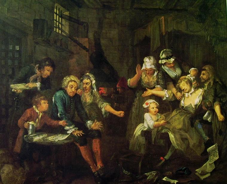 William Hogarth: La carriera del libertino - La prigione