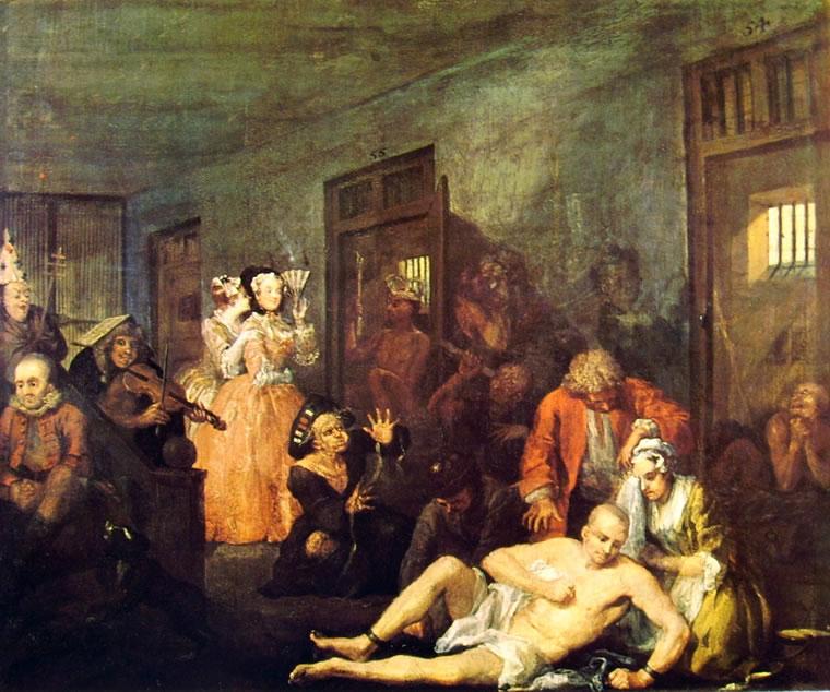 William Hogarth: La carriera del libertino - Il manicomio (Londra)