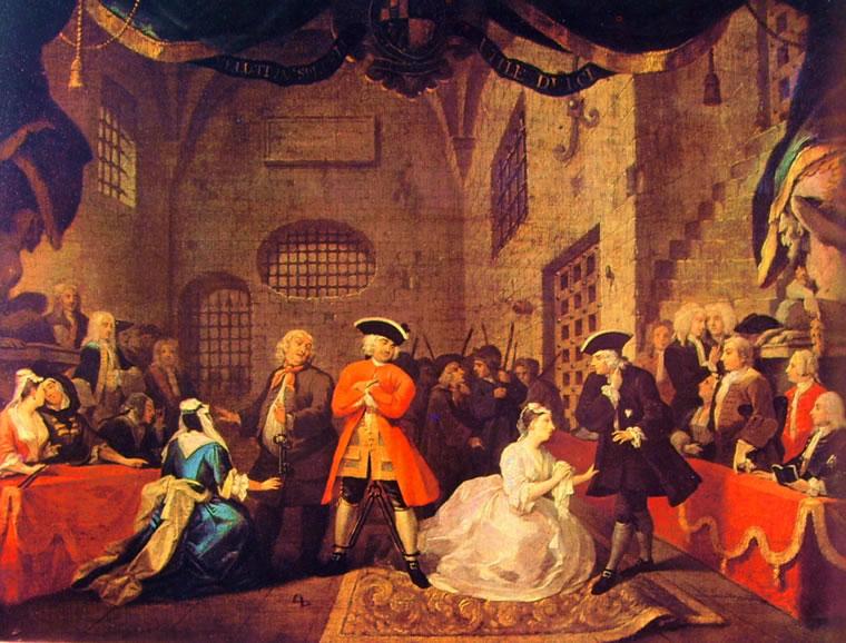 William Hogarth: Scena dall'Opera dei Mendicanti