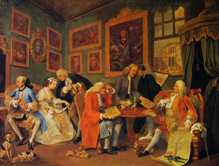 William Hogarth: Il matrimonio alla moda - Il contratto