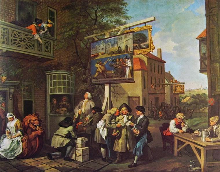 William Hogarth: La campagna elettorale - L'opera di convinzione