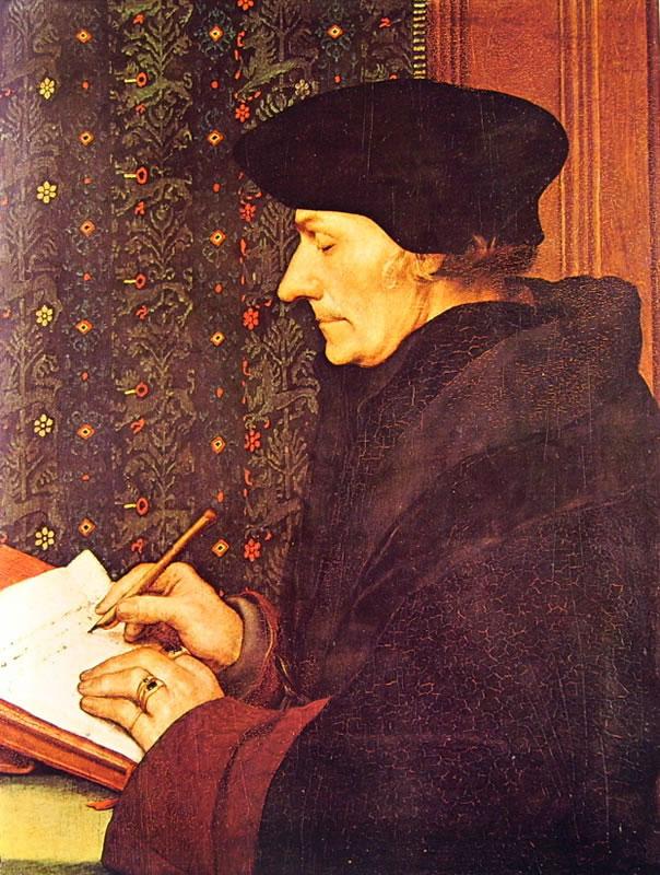Hans Holbein il Giovane: Ritratto di Erasmo da Rotterdam