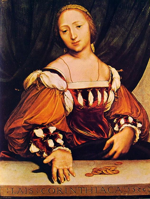 Hans Holbein il Giovane: Ritratto diLaide di Corinto
