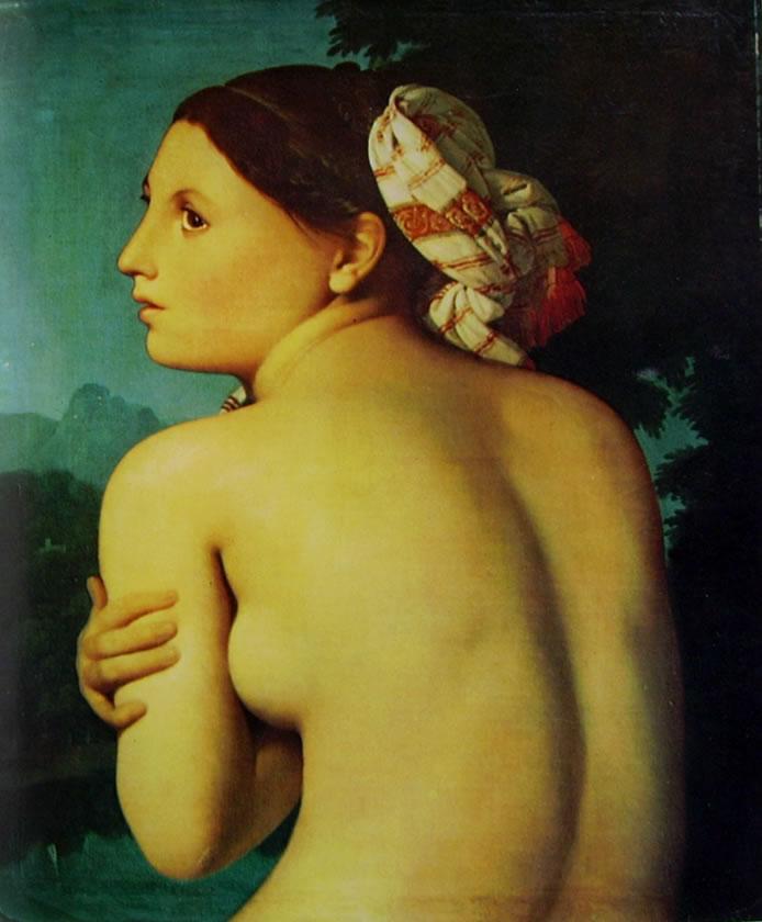 Jean-Auguste-Dominique Ingres: Nudo femminile di schiena (Bayonne)