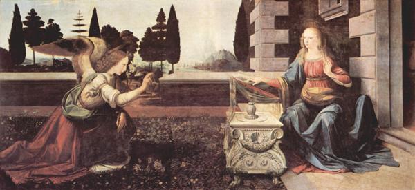 Leonardo da Vinci:L'annunciazione (Uffizi)