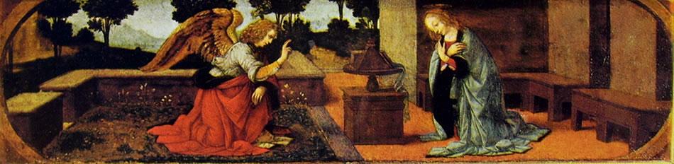 Leonardo da Vinci: L'annunciazione (Louvre)