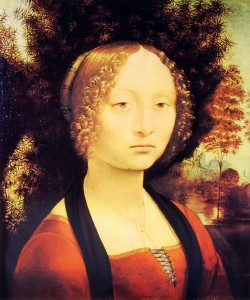 Leonardo da Vinci: Ritratto di Donna, periodo 1474-76, 42 x 37 cm. Washington, National Gallery.