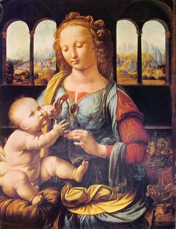Leonardo da Vinci: Madonna del garofano