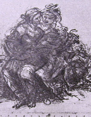 studio preparatorio per Sant'Anna, la Madonna, il Bambino e San Giovannino