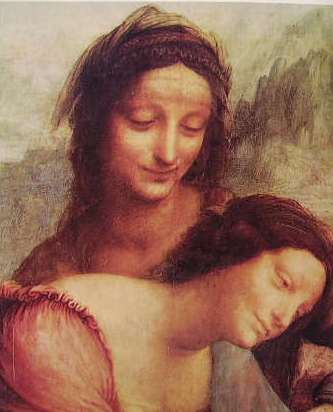 Leonardo - S. Anna la madonna e il bambino con l'agnello