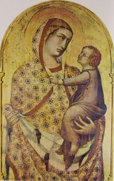 Polittico (Madonna col Bambino), cm. 298 x 309, Santa Maria della Pieve, Arezzo.