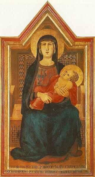 Ambrogio Lorenzetti: Madonna col Bambino (Val di Pesa)