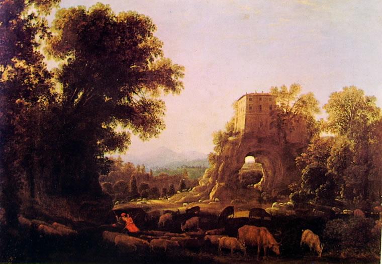 Lorrain: Paesaggio con pastori (Manning)