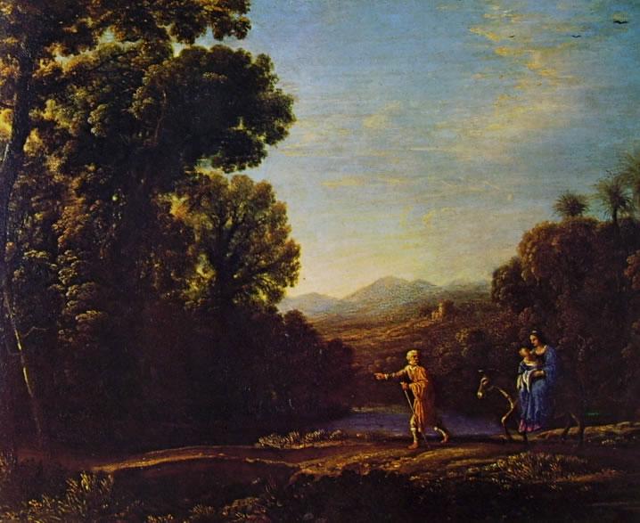 Lorrain (Claude Gellée): Paesaggio con la fuga in Egitto (Belvoir Castle)