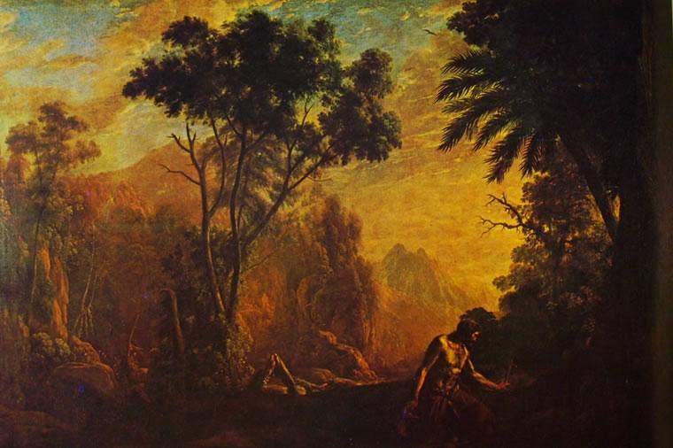 Lorrain (Claude Gellée): Paesaggio con anacoreta