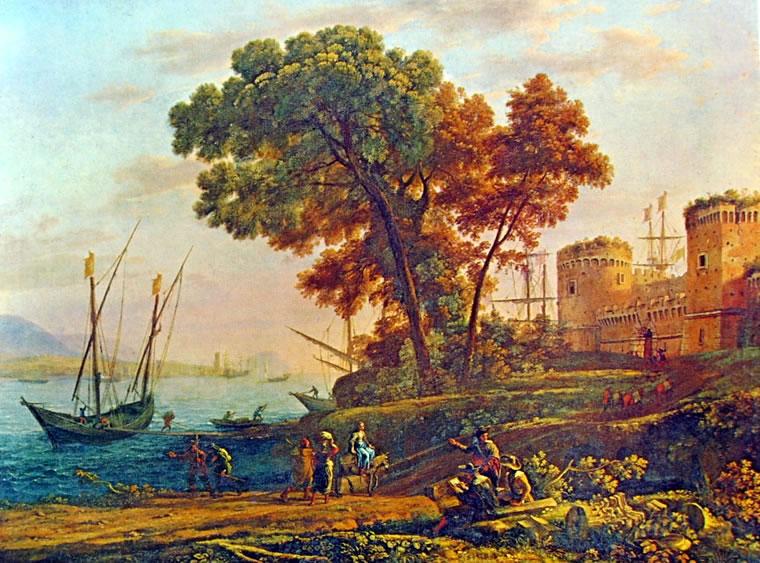 Lorrain (Claude Gellée): Veduta costiera (Cincinnati)
