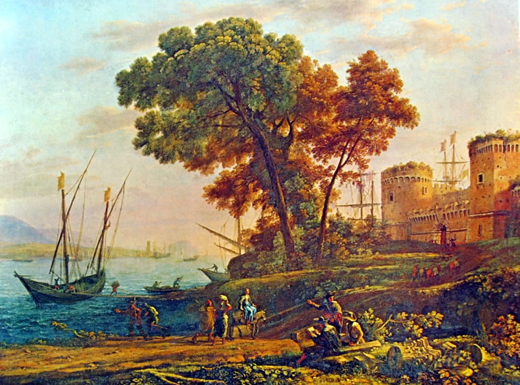 Lorrain (Claude Gellée): Veduta costiera