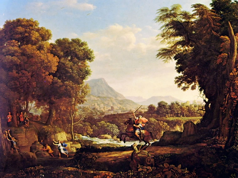 Lorrain (Claude Gellée): Paesaggio con San Giorgio