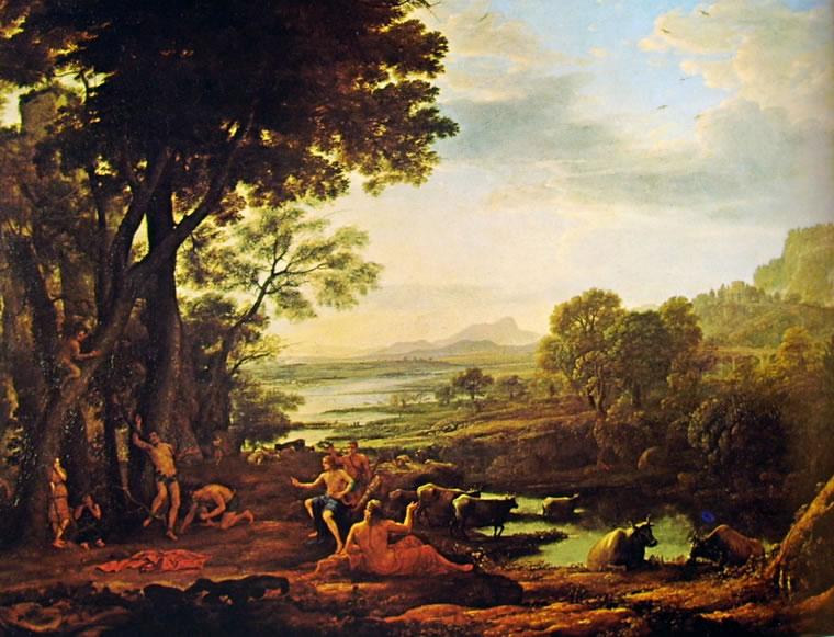 Lorrain (Claude Gellée): Paesaggio con il supplizio di Marsia