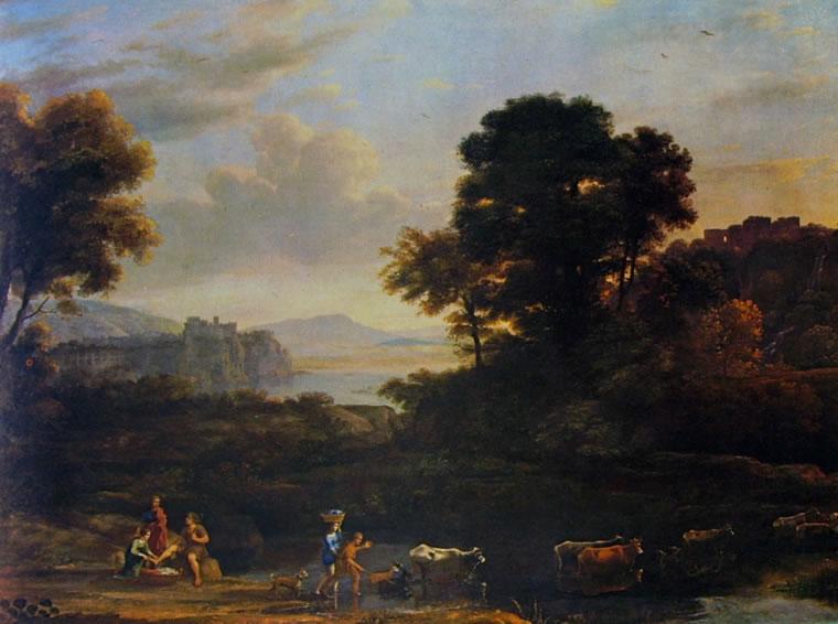 Lorrain (Claude Gellée): Paesaggio con pastori (San Diego)