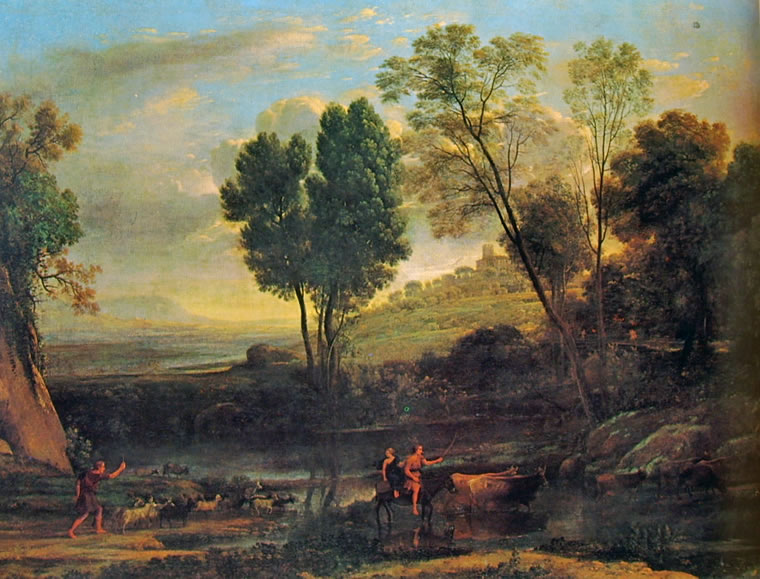 Lorrain (Claude Gellée): Paesaggio con pastori (Metropolitan Museum)