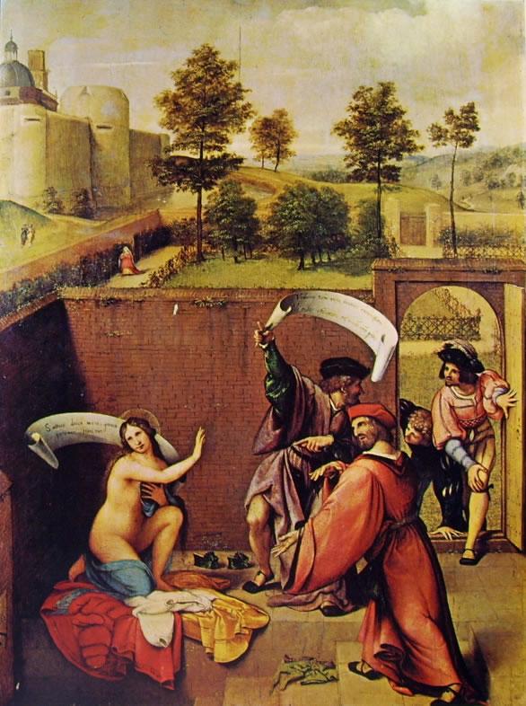 Lorenzo Lotto: Susanna e i vecchioni (Uffizi)