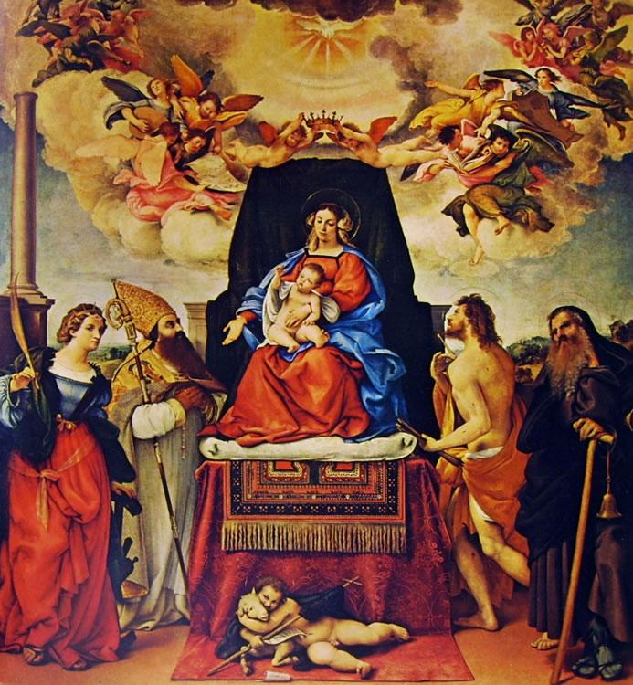 Lorenzo Lotto: Madonna con il bambino e i santi (Bergamo)