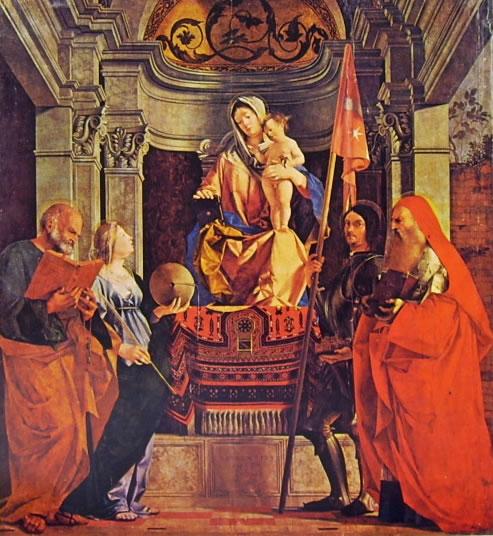 Lorenzo Lotto: Pala di Santa Cristina al Tiverone - la Madonna