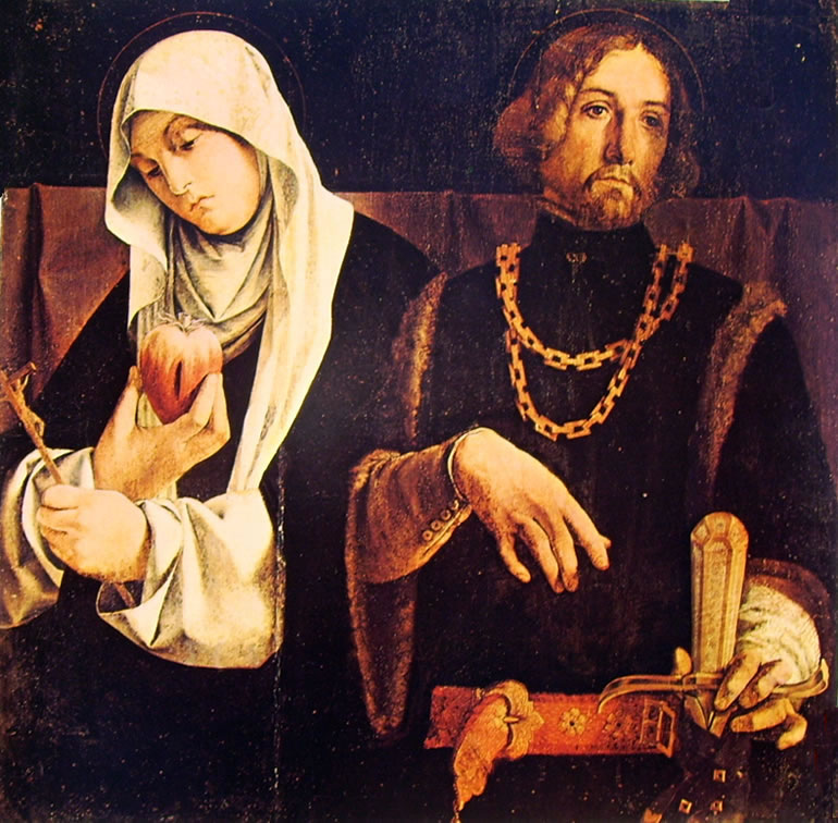 Lorenzo Lotto: I santi Caterina da Siena e Sigismondo (Recanati)