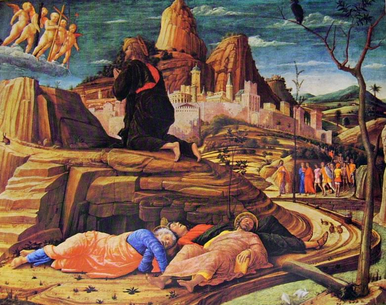 Mantegna: La preghiera nell'orto (Londra)
