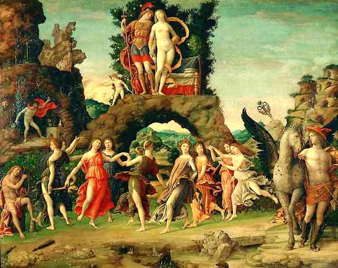 Mantegna: Il Parnaso (Louvre)