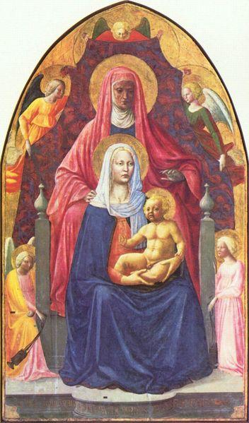 Masaccio: Sant'Anna, la Madonna col Bambino e angeli